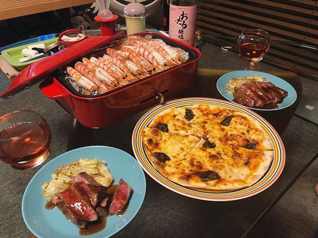 3日連続赤い晩ご飯