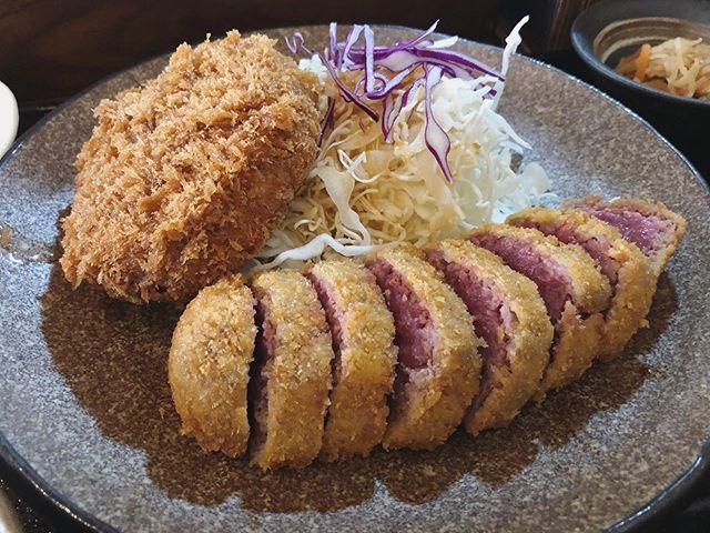 牛カツ定食+メンチカツ